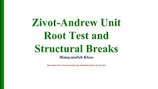 Gregory Hansen Structural Break Cointegration Test - Renault