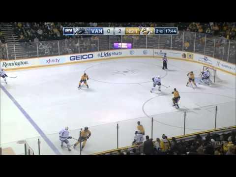 Game #636 Vancouver Canucks @ Nashville Predators 1-5 Highlights (13.01.2015)