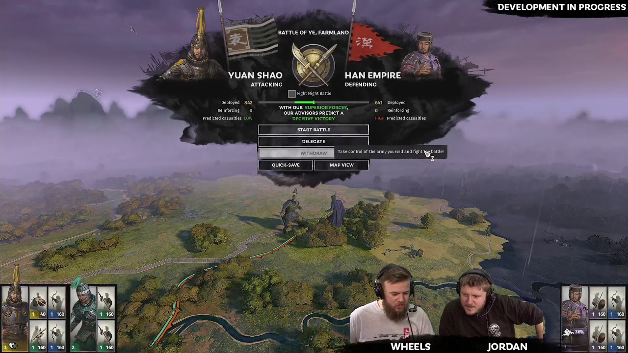 Total War: THREE KINGDOMS - First Live Gameplay - Yuan Shao Campaign Part 1
