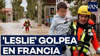 Al menos 13 muertos al paso de la tormenta 'Leslie' por el sur de Francia