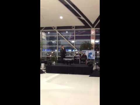 Karaoke in Detroit Airport