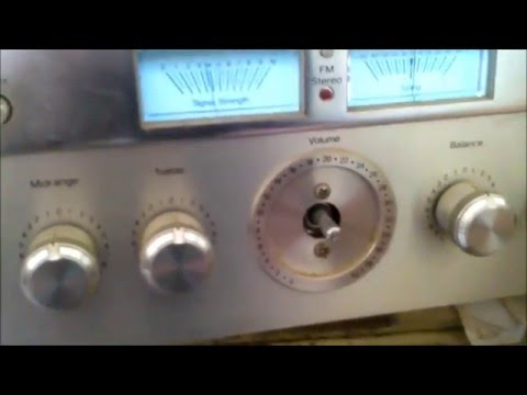 A Crusty MCS Audio AM / FM Stereo Receiver.