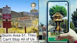 Miljoona ihmistä aikoo rynnätä AREA 51:lle? Mikä on Minecraft Earth?