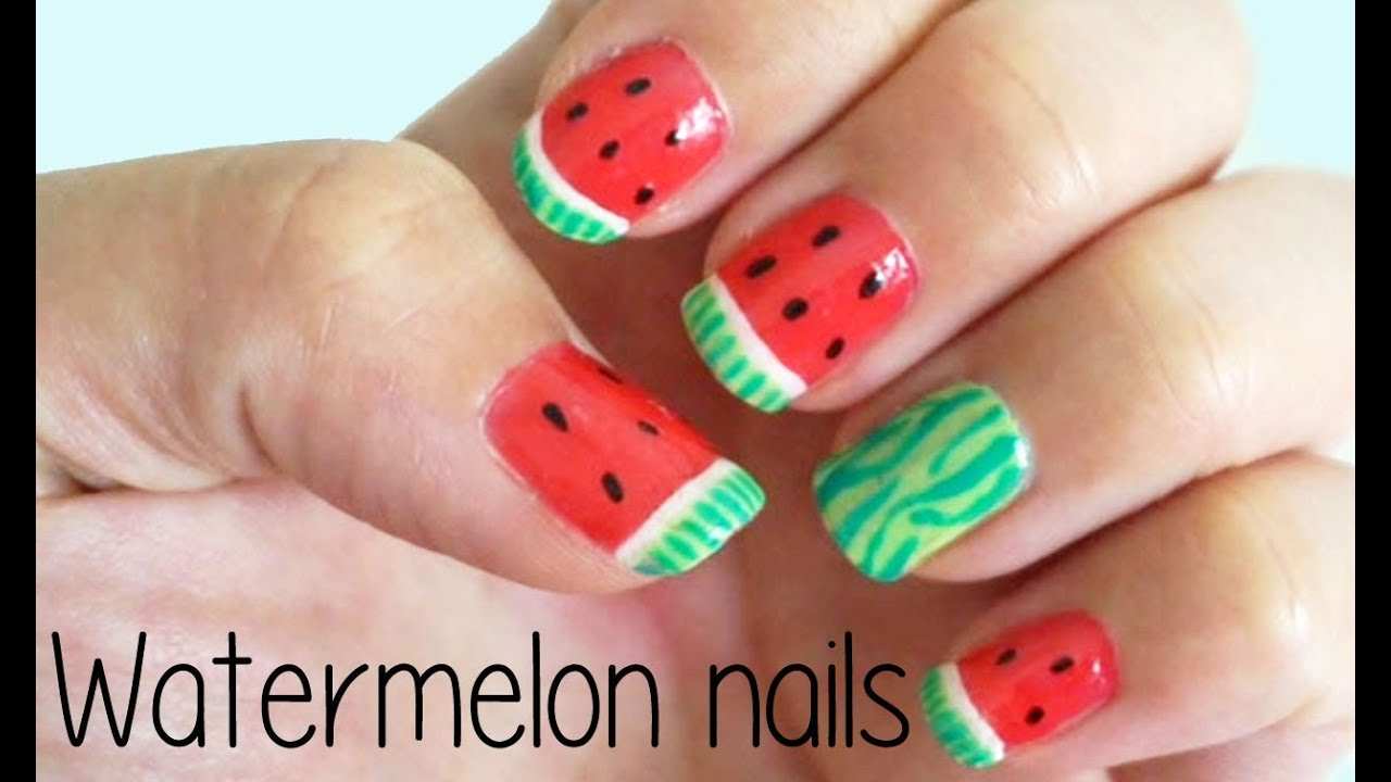 Watermelon nails youtube prinsesfo Images