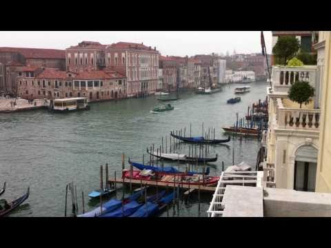 View of the Grand Canal In Venice Italy from our hotel room