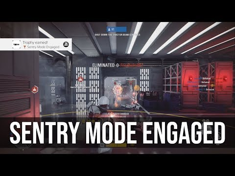 Sentry Mode Engaged Trophy / Achievement Tutorial - Star Wars Battlefront 2