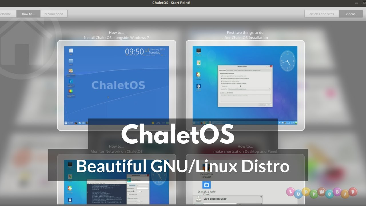 ChaletOS Simple And Elegant GNU/LInux Distro For Newbie