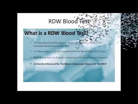 RDW Blood Test - Red cell distribution width