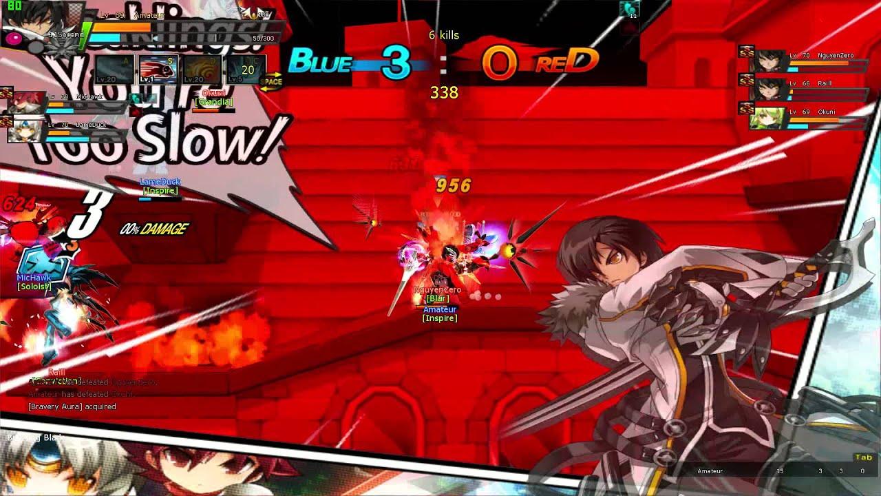 [Elsword]Blade Master 1v1 PvP (SSS~StarRank) - YouTube