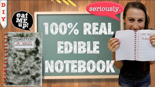 How To Make Edible School Supplies - Edible Notebook With Real Edible Pages!