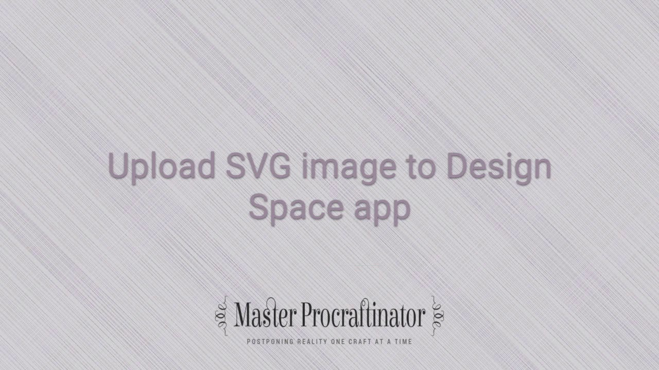 How to unzip and upload SVG images to Design Space on iPad - Master