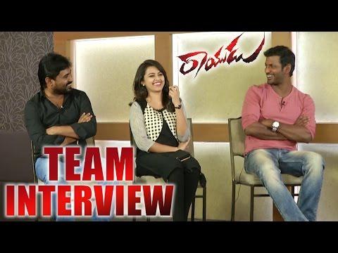 Rayudu Team Latest Interview || Vishal || Sri Divya || Soori || 2016 Telugu Movie