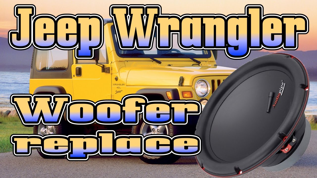 how to replace your blown jeep wrangler factory subwoofer