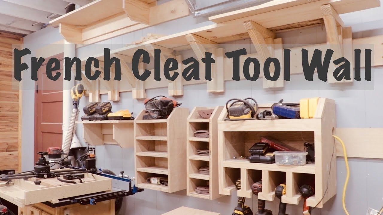 French Cleat Tool Wall Woodworking Clamp Rack