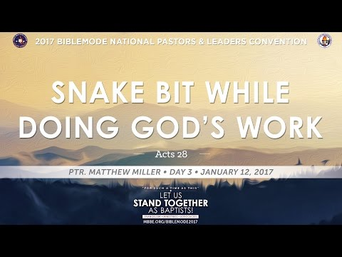 BIBLEMODE 2017 | Snake Bit While Doing God's Work - Ptr. Matthew Miller