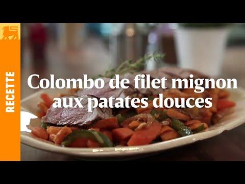 Colombo de filet mignon aux patates douces