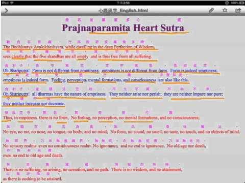 Meaning of heart sutra
