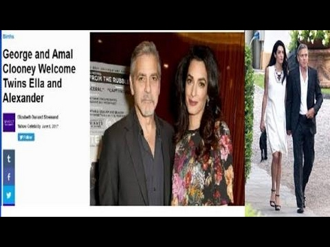 "George Clooney's ""Wife"" Amal Alamuddin Is A Man - Giving Birth To Twins Is A Hoax"