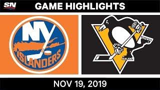NHL Highlights   Islanders vs Penguins - Nov. 19, 2019