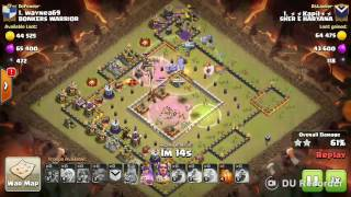 Clash of clans Bowler valks strategy Max TH11 ring base 3 star attack