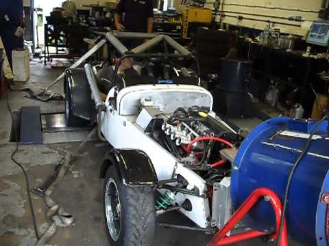 Caterham 7 1.8 K-series on the rolling road: non-VVC, ported head, Jenveys, Emerald ECU, etc.