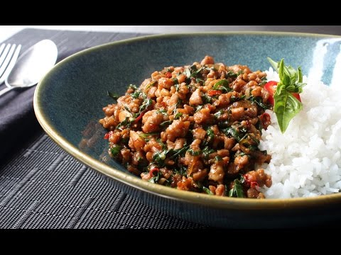 Spicy Thai Basil Chicken (Pad Krapow Gai) - How to Make Spicy Basil Garlic Chicken