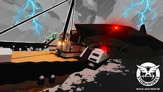 Our Cursed Ship Gets Attacked by Megalodons! - Stormworks Multiplayer - Sinking Ship Survival