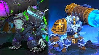 Grock | Iceland Golem Starlight Skin Vs Monitor Lizard VENOM Epic Skin | Mobile Legends