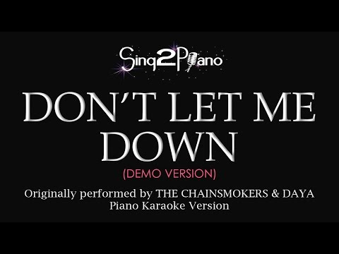 Don't Let Me Down (Piano karaoke demo) The...