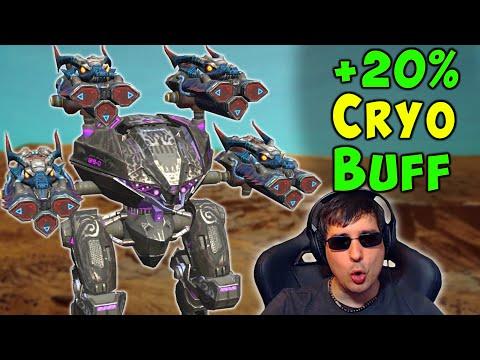 NEW +20% CRYO Weapon BUFF On Leech War Robots Mk2 Gameplay WR