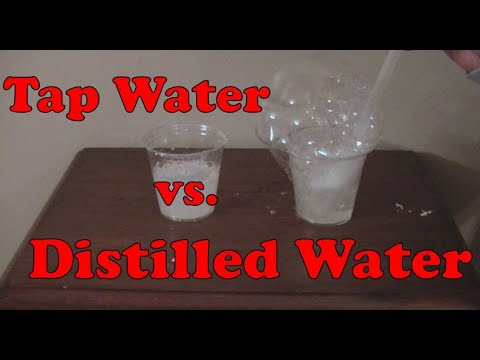 Tap Water Vs. Distilled Water: Sudsing Action