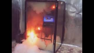 видео газовое пожаротушение