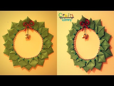 DIY Christmas Wreath with paper | Paper crafts | Christmas crafts
