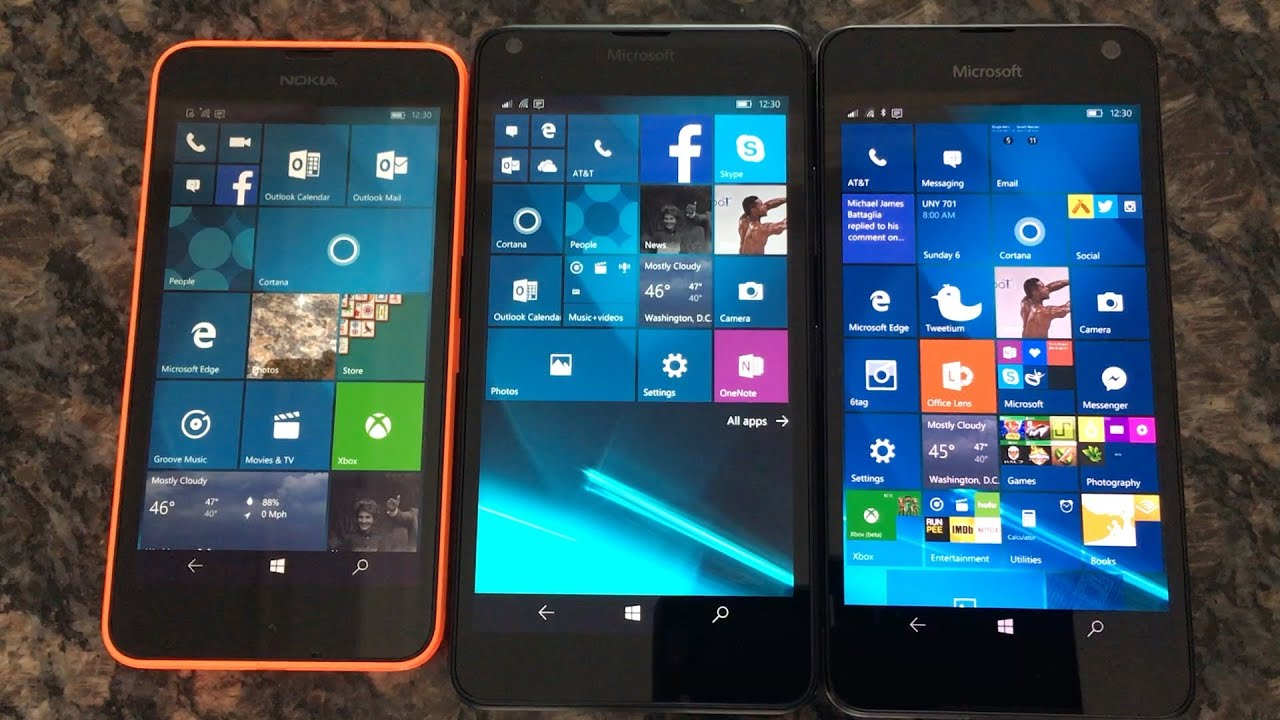 Microsoft Lumia 650 vs 640 vs 635 comparison