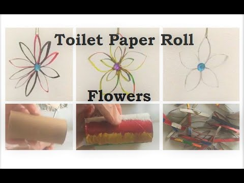 Easy DIY Toilet Paper Roll Craft Flowers