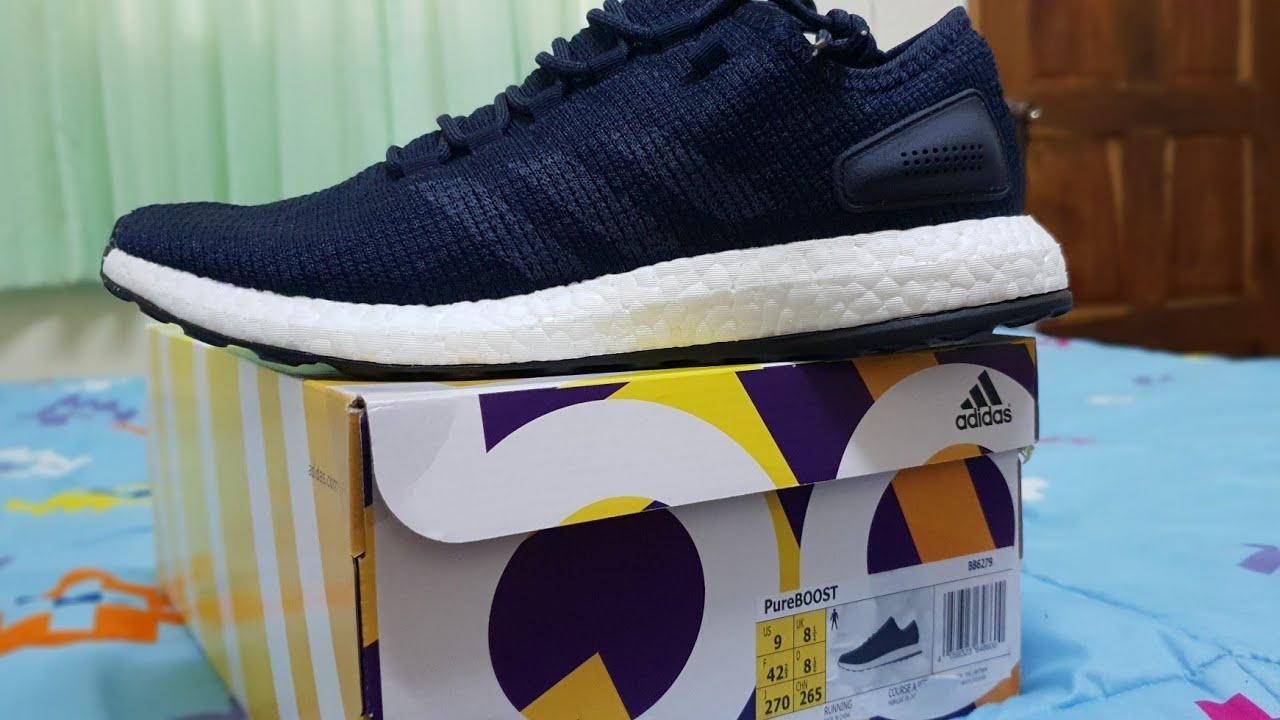 9e1ba5f46 รีวิว Adidas PureBoost ลดราคา - YouTube