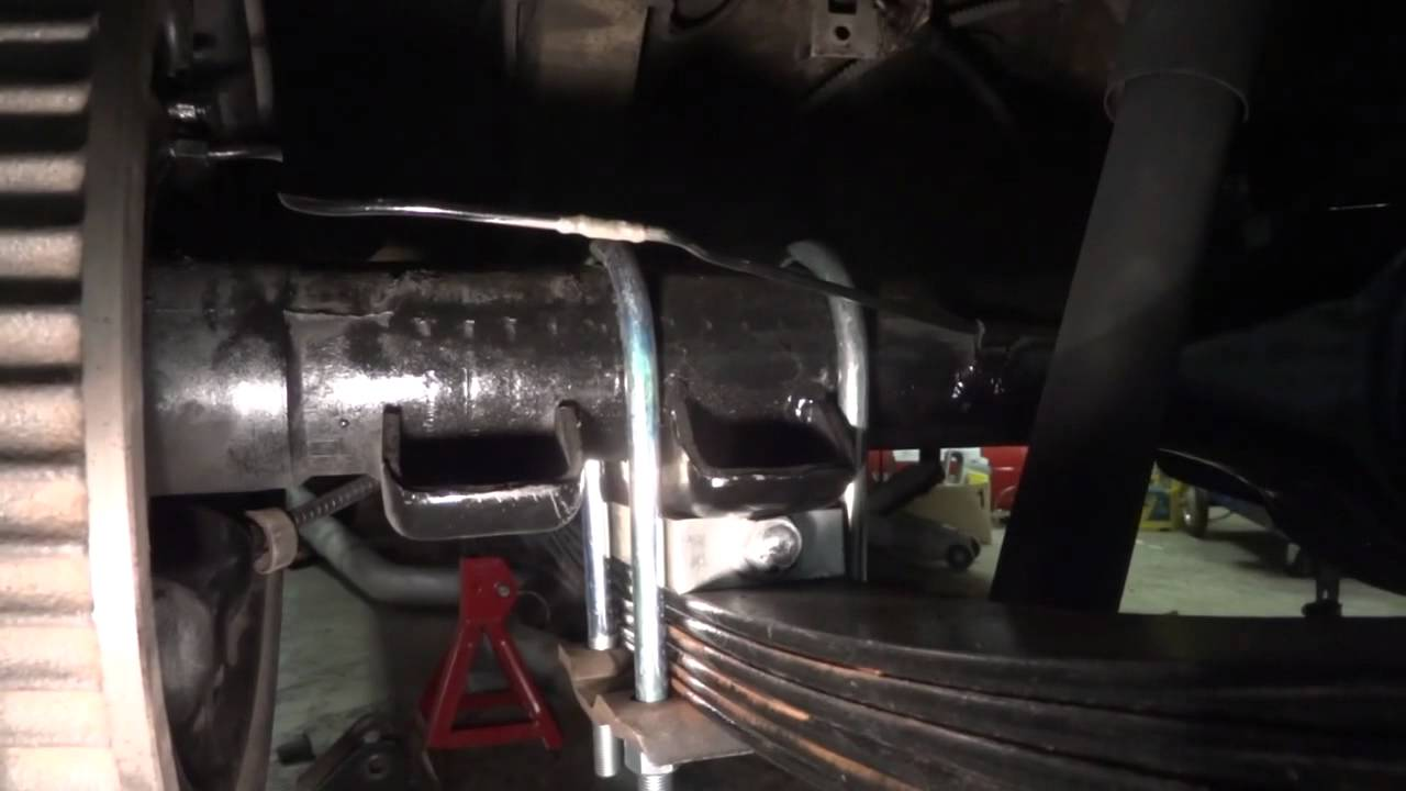 67 Dodge Dart Leaf Spring Relocation Youtube