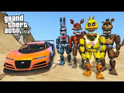 FIVE NIGHTS AT FREDDY'S!! (GTA 5 Mods FNAF Gameplay)