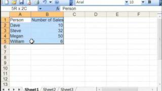 General Computer Tips : How To Make A Bar Graph Using Microsoft Excel 2003