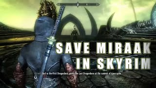 Save Miraak - Fight Herma-Mora (Dragonborn DLC Alternate Ending)