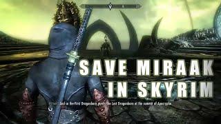 Save Miraak - Fight Hermaeus Mora (Dragonborn DLC Alternate Ending)