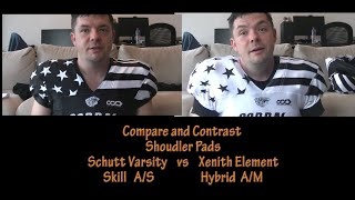 Xenith vs Schutt Shoulder Pads - Compare and Contrast