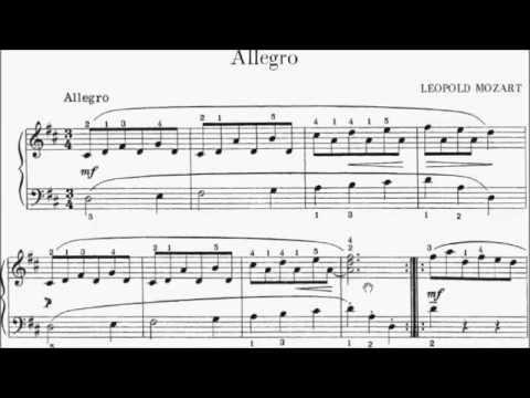 ABRSM Piano 2015-2016 Grade 2 A:5 A5 Leopold Mozart Allegro in D (Studio 21 1st Series) Sheet Music