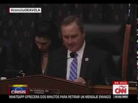 Congresista estadounidense amenaza a tres países por apoyar a Venezuela en la OEA