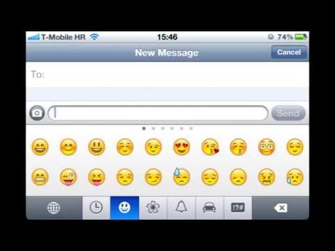 How do you turn emojis on iphone 4