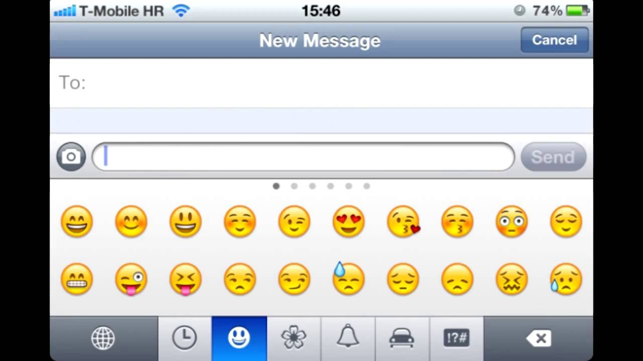 Enable Emoji Keyboard on iPhone 4 , iPhone 4s, iPhone 5, iPhone 5s, iPhone  6, iPhone 6s