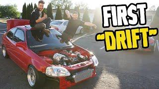 homepage tile video photo for Rear wheel drive Honda Civic - FIRST LEGIT TEST DRIVE!!!