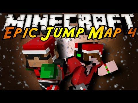 Minecraft: Epic Jump Map Christmas Part 1!