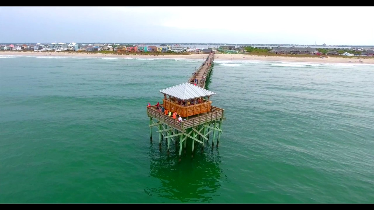 Atlantic beach fishing pier youtube for Atlantic beach fishing report