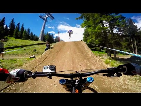 Claudio Caluori & Peaty Get Loose In Lenzerheide: GoPro View   UCI MTB World Cup 2016